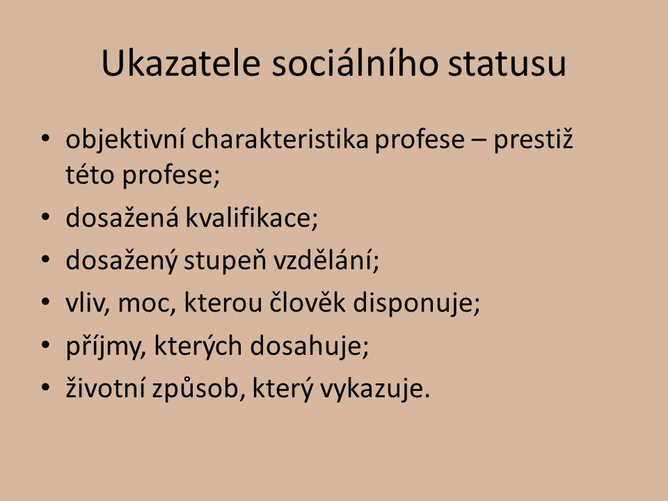 Ukazatele sociálního statusu