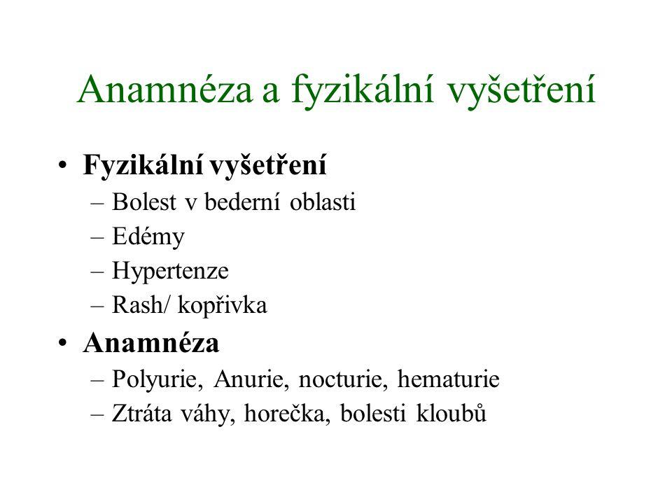 Anamnéza a fyzikální vyšetření