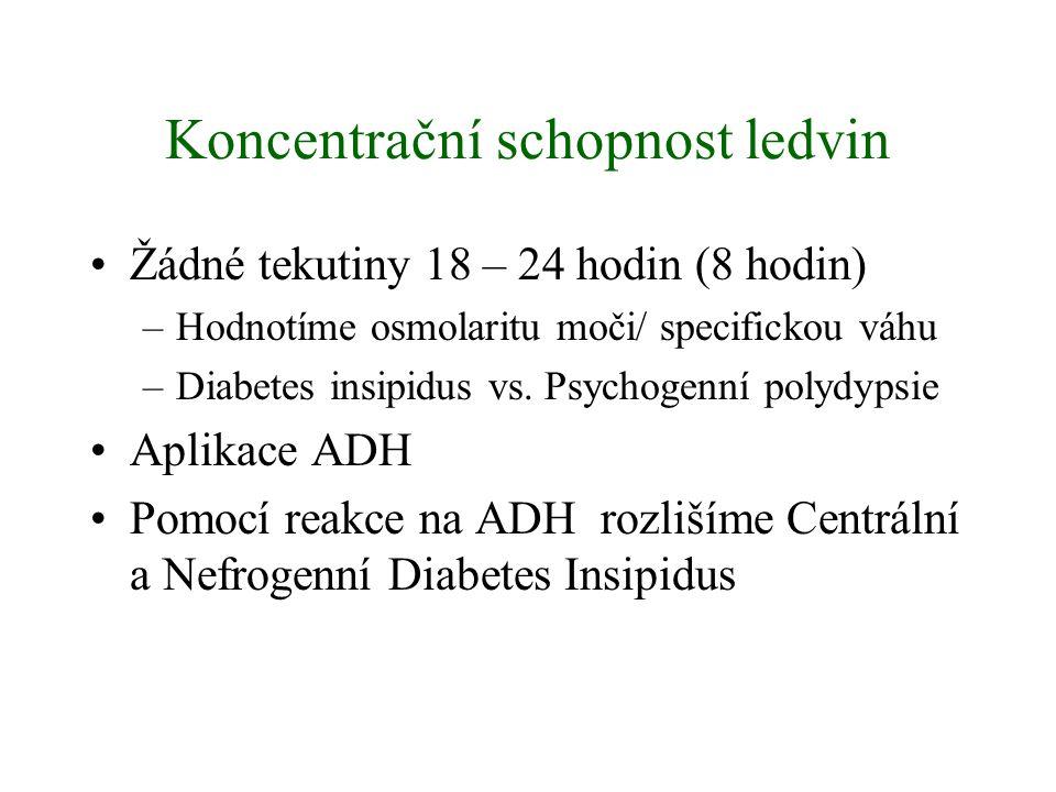 Koncentrační schopnost ledvin