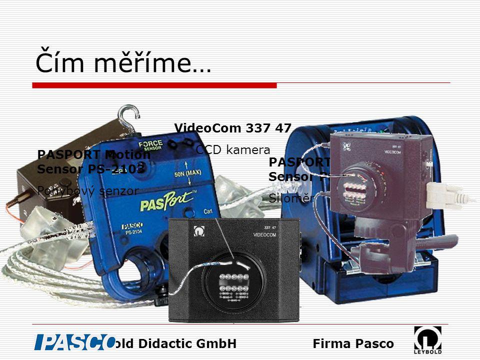 Čím měříme… VideoCom 337 47 CCD kamera PASPORT Motion Sensor PS-2103