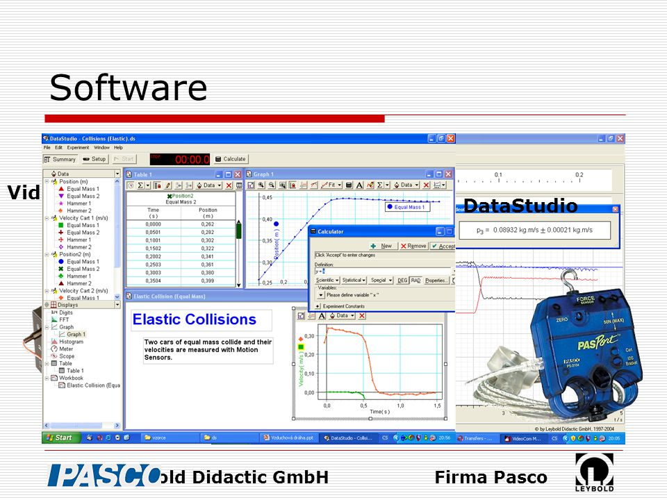 Software VideoCom Motions DataStudio Firma Leybold Didactic GmbH
