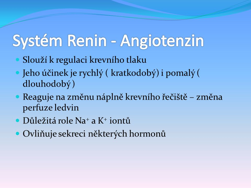 Systém Renin - Angiotenzin