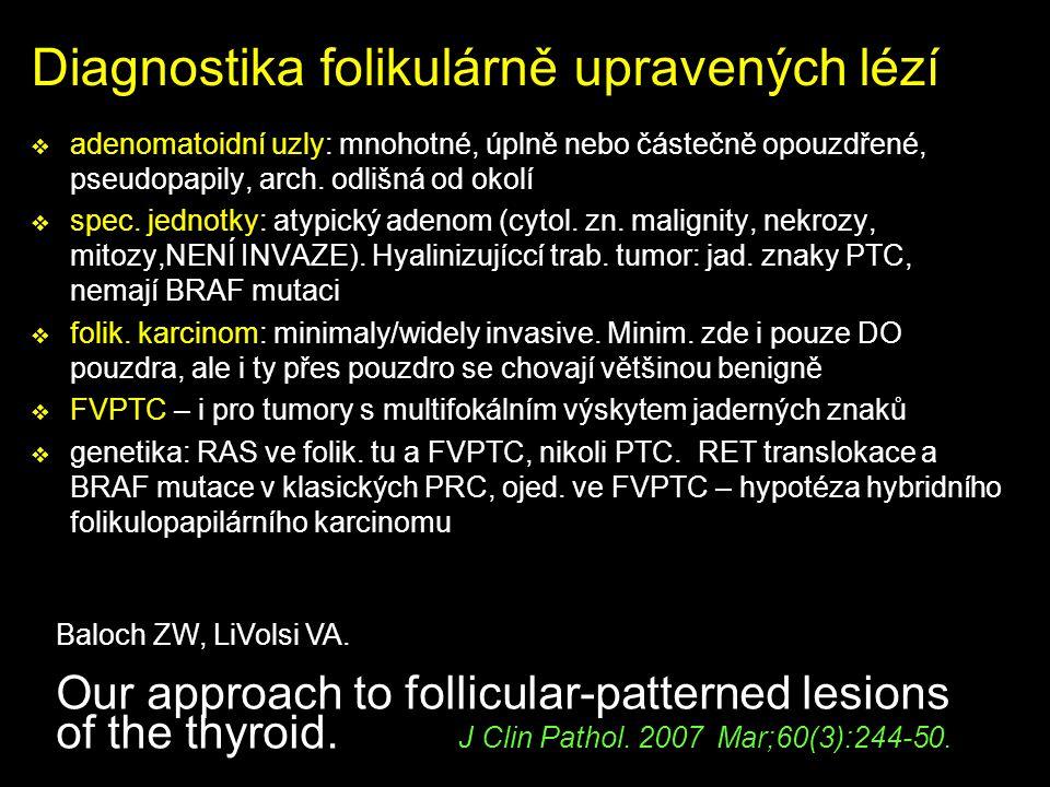 Diagnostika folikulárně upravených lézí