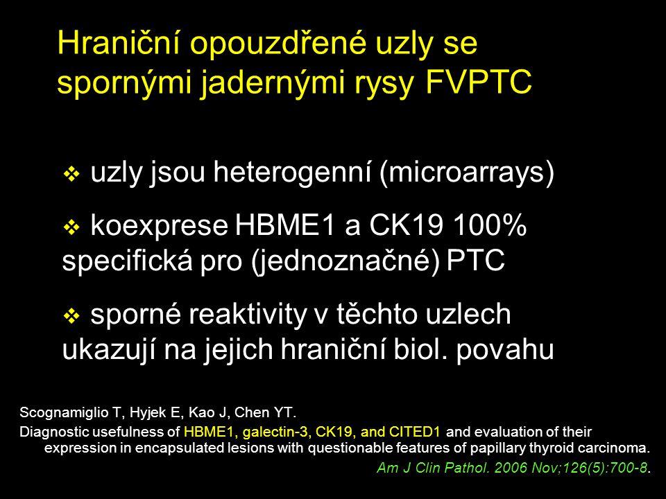 Hraniční opouzdřené uzly se spornými jadernými rysy FVPTC