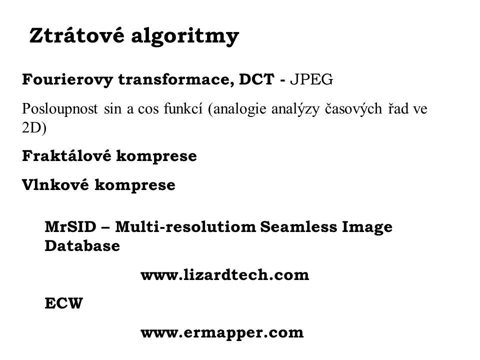 Ztrátové algoritmy Fourierovy transformace, DCT - JPEG