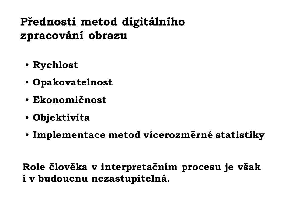 Přednosti metod digitálního zpracování obrazu