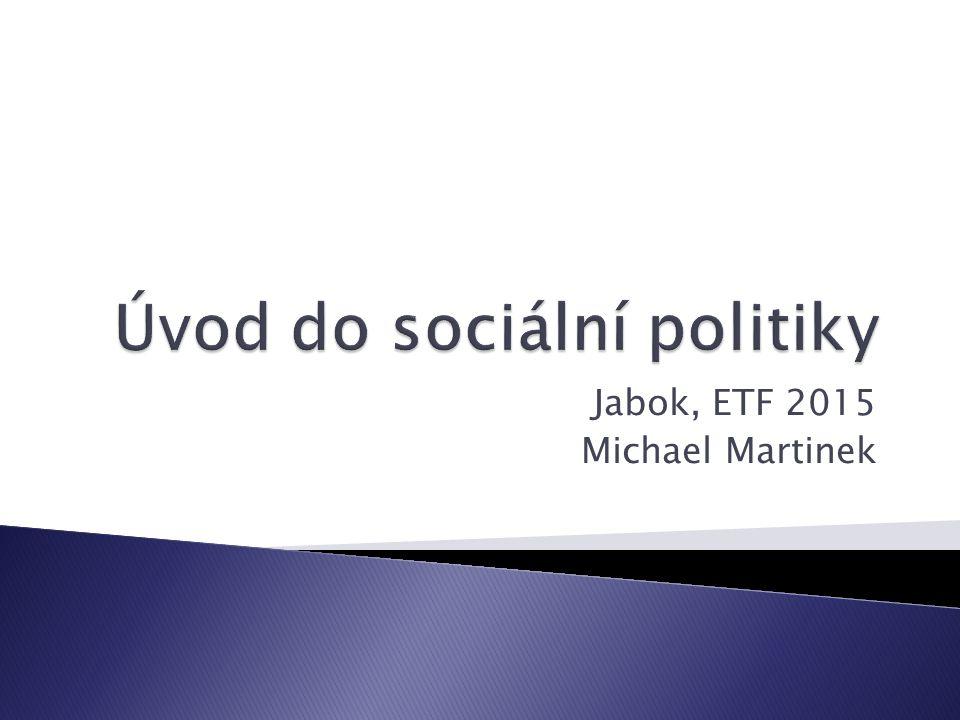 Úvod do sociální politiky