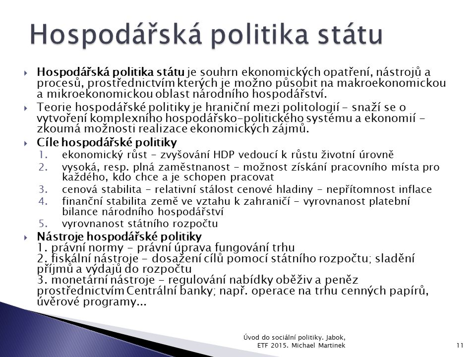 Hospodářská politika státu