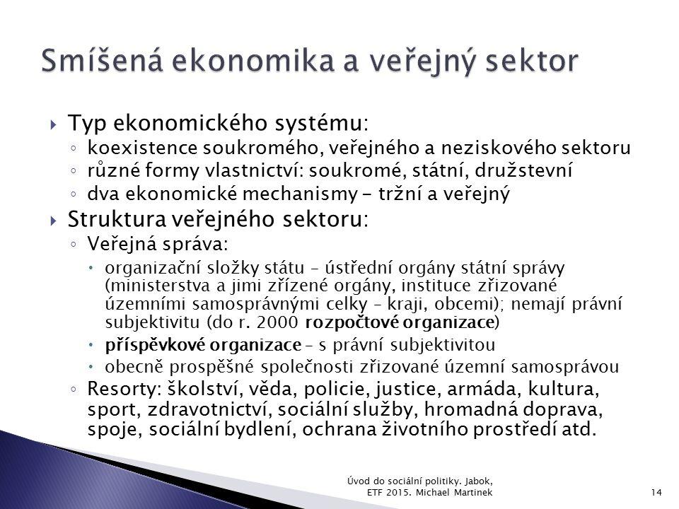 Smíšená ekonomika a veřejný sektor