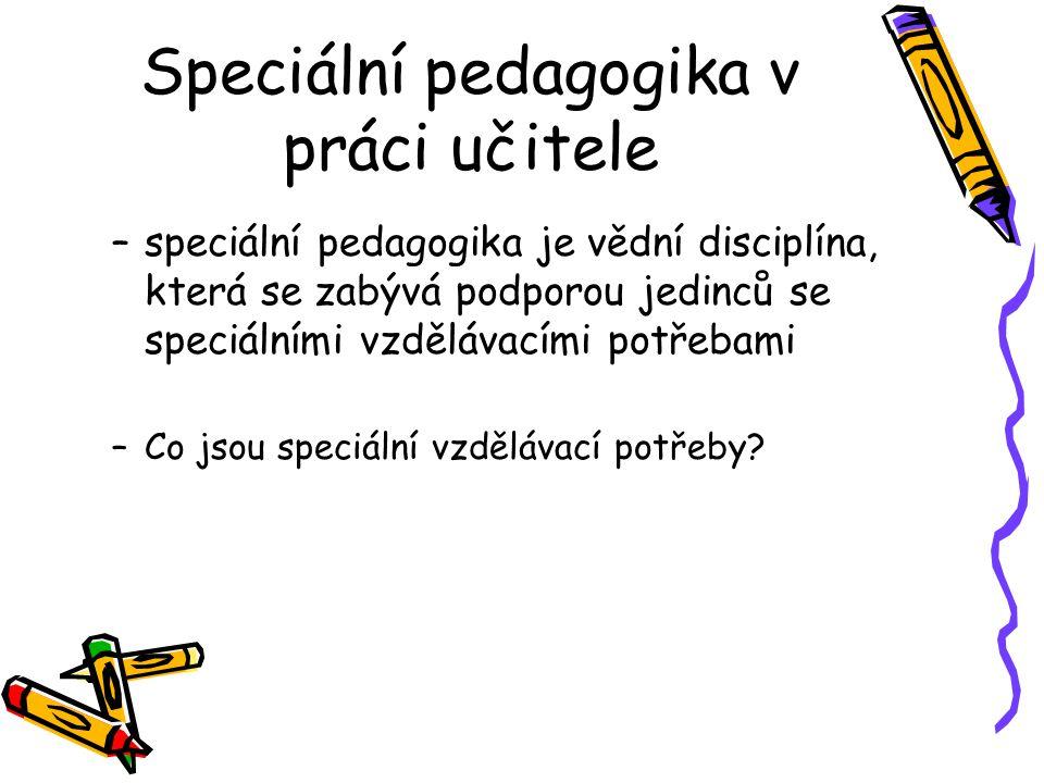 Speciální pedagogika v práci učitele