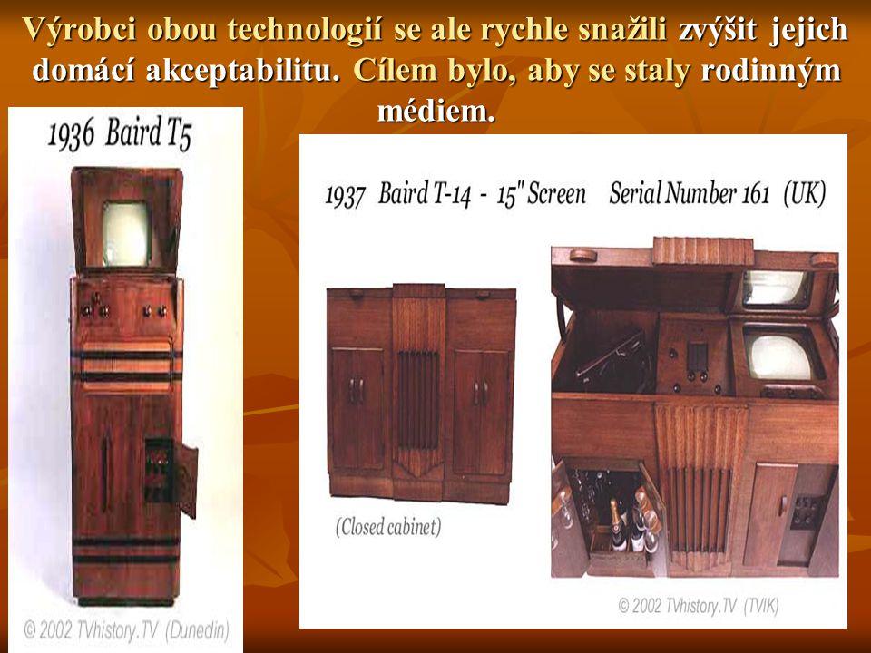Výrobci obou technologií se ale rychle snažili zvýšit jejich domácí akceptabilitu.