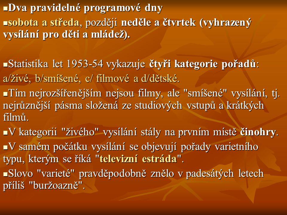 Dva pravidelné programové dny