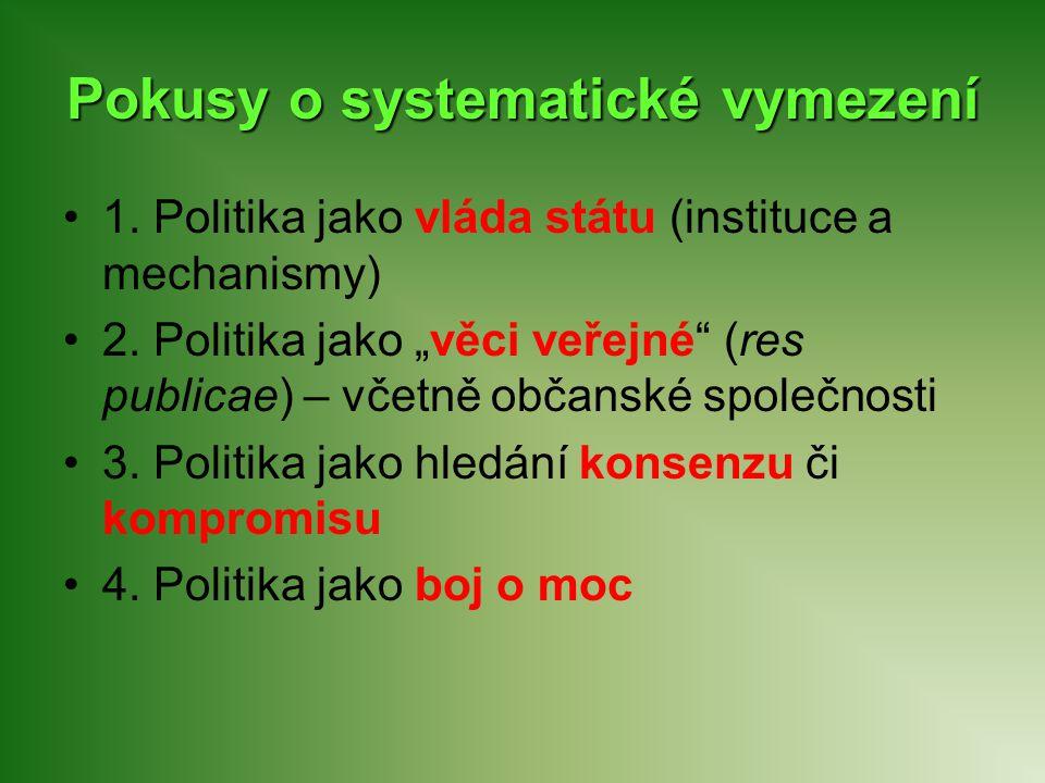 Pokusy o systematické vymezení