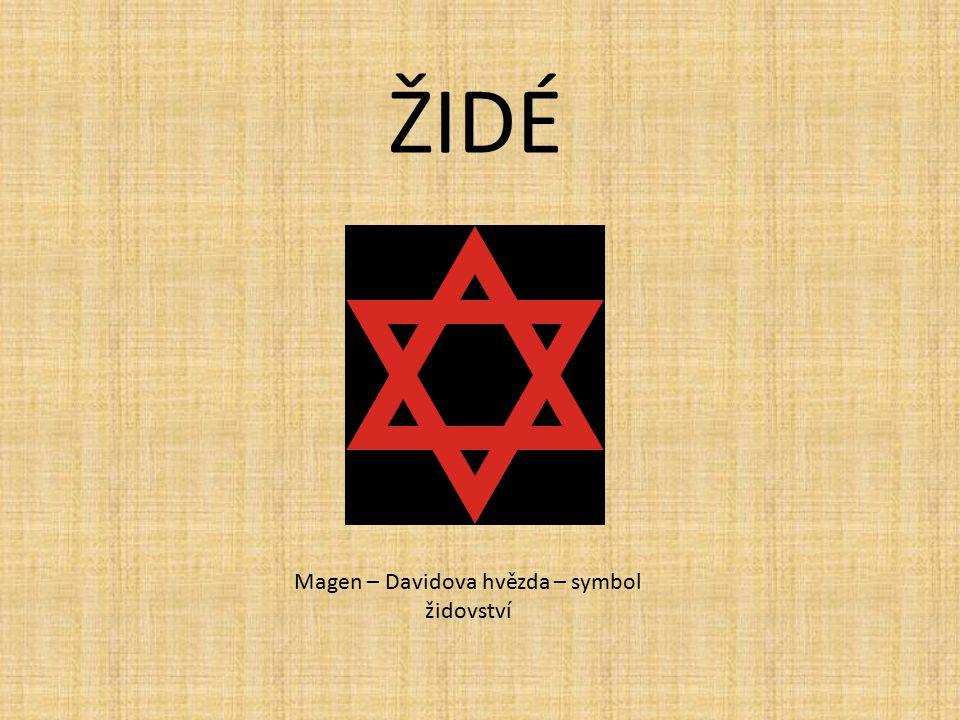 Magen – Davidova hvězda – symbol židovství