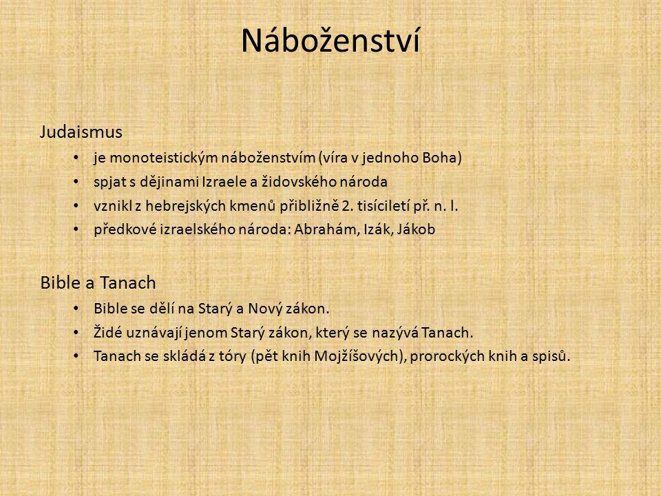 Náboženství Judaismus Bible a Tanach
