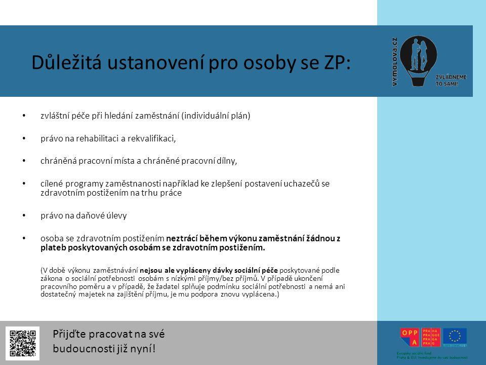 Důležitá ustanovení pro osoby se ZP:
