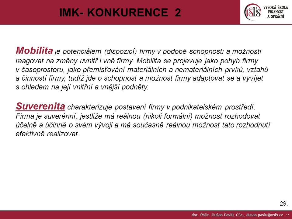 IMK- KONKURENCE 2