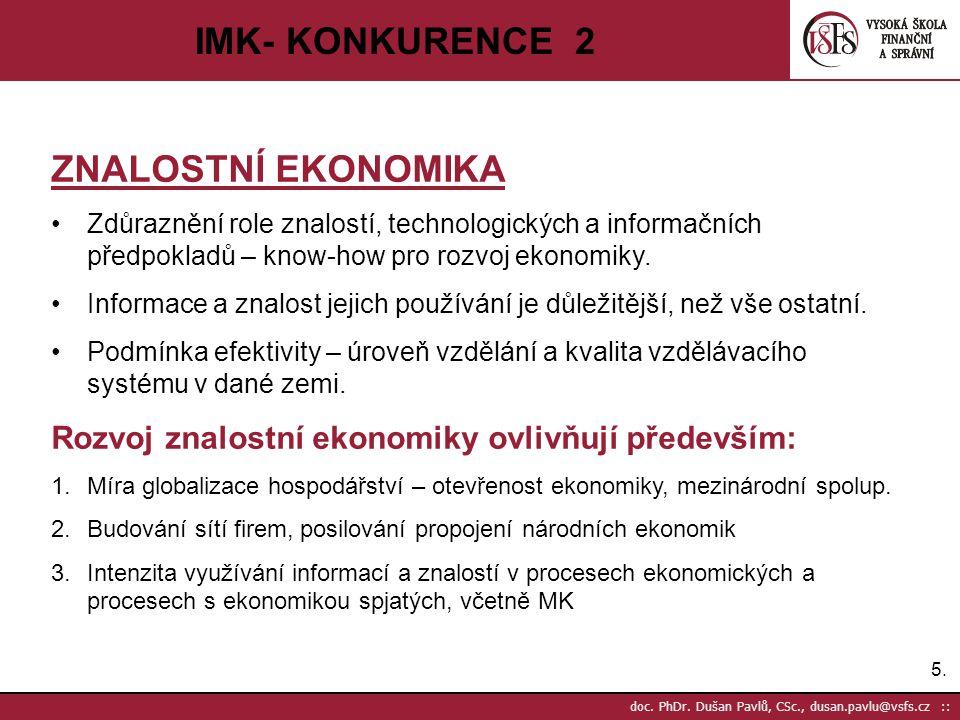 IMK- KONKURENCE 2 ZNALOSTNÍ EKONOMIKA