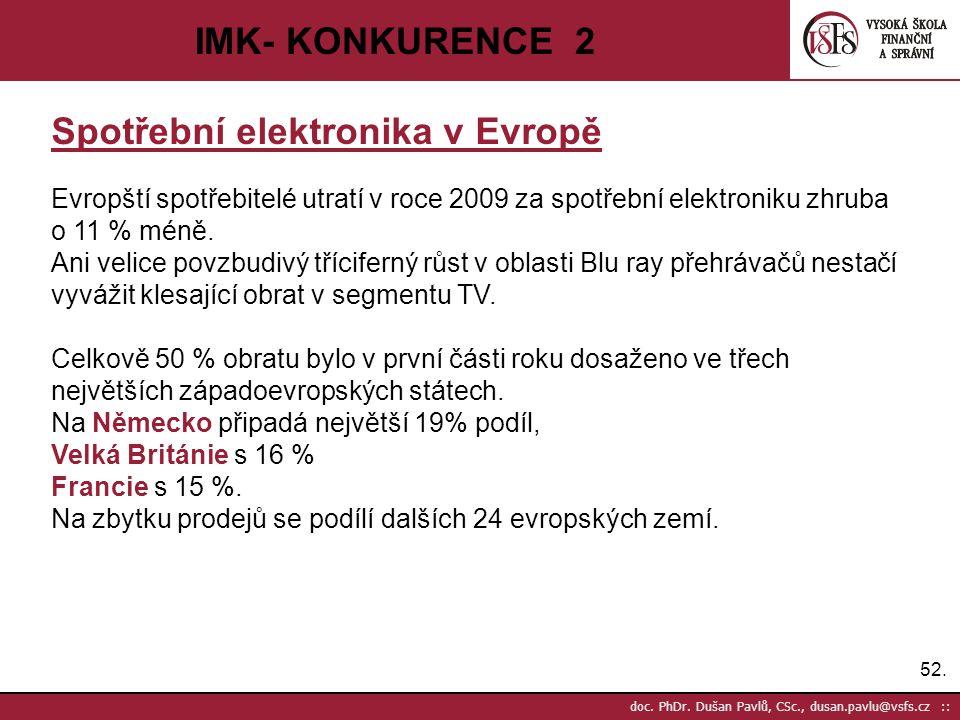 Spotřební elektronika v Evropě