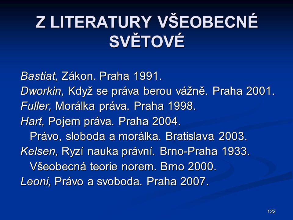 Z LITERATURY VŠEOBECNÉ SVĚTOVÉ