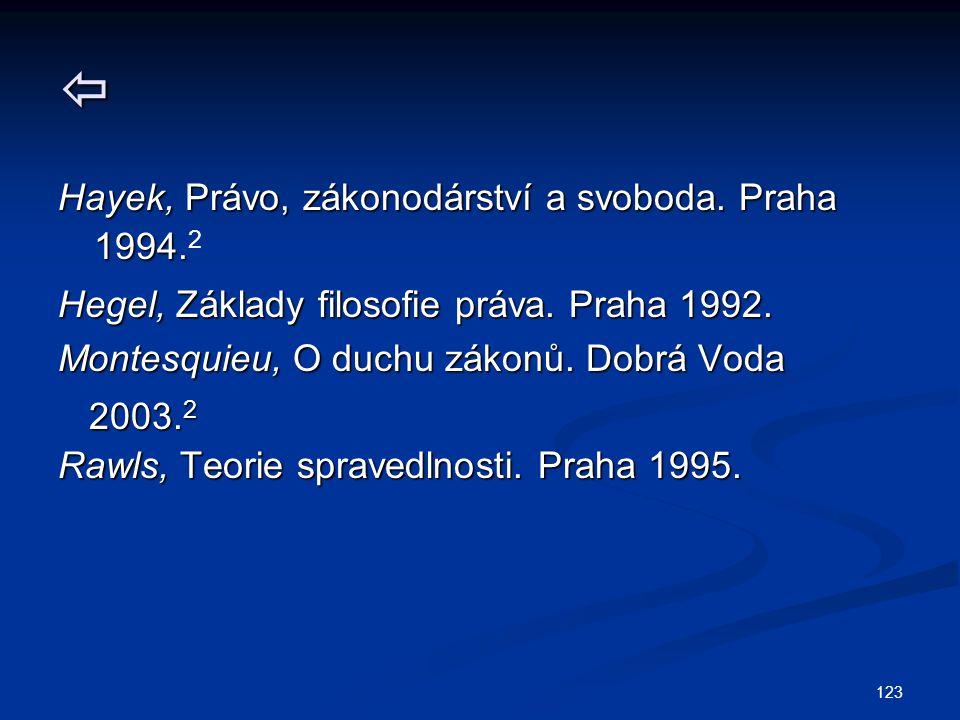  Hayek, Právo, zákonodárství a svoboda. Praha 1994.2