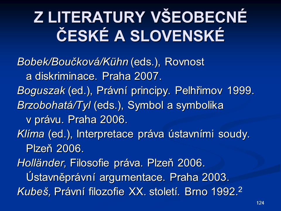 Z LITERATURY VŠEOBECNÉ ČESKÉ A SLOVENSKÉ