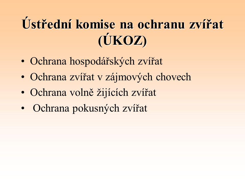 Ústřední komise na ochranu zvířat (ÚKOZ)
