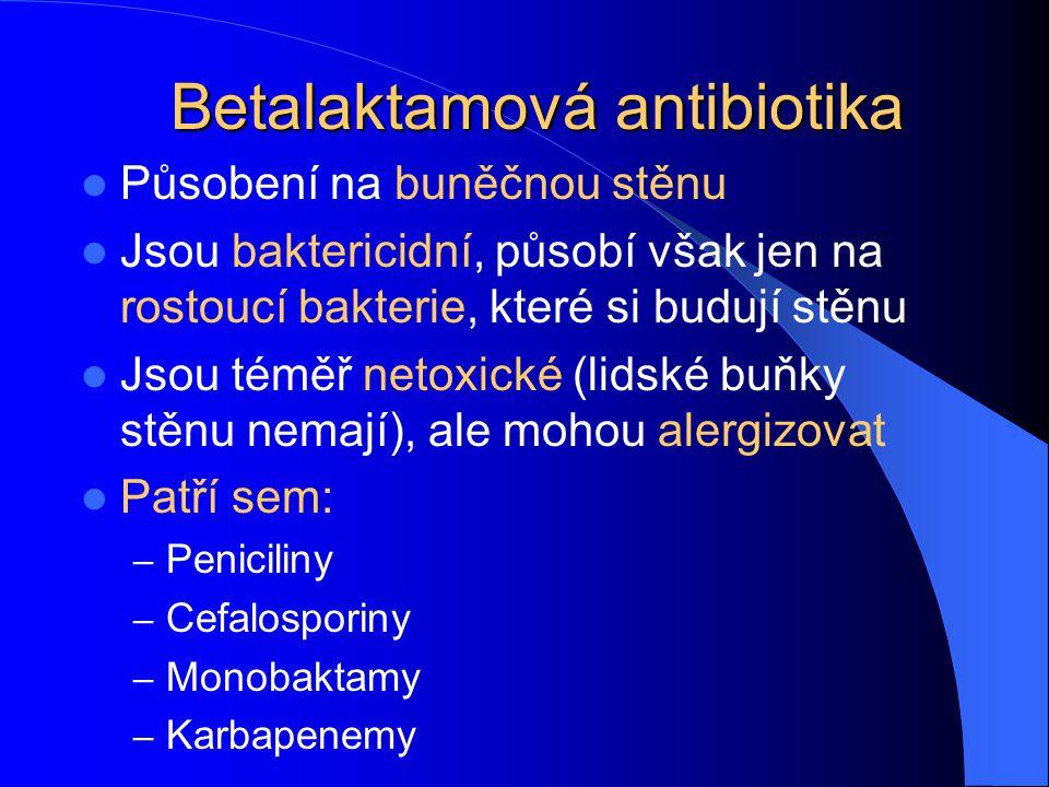 Betalaktamová antibiotika