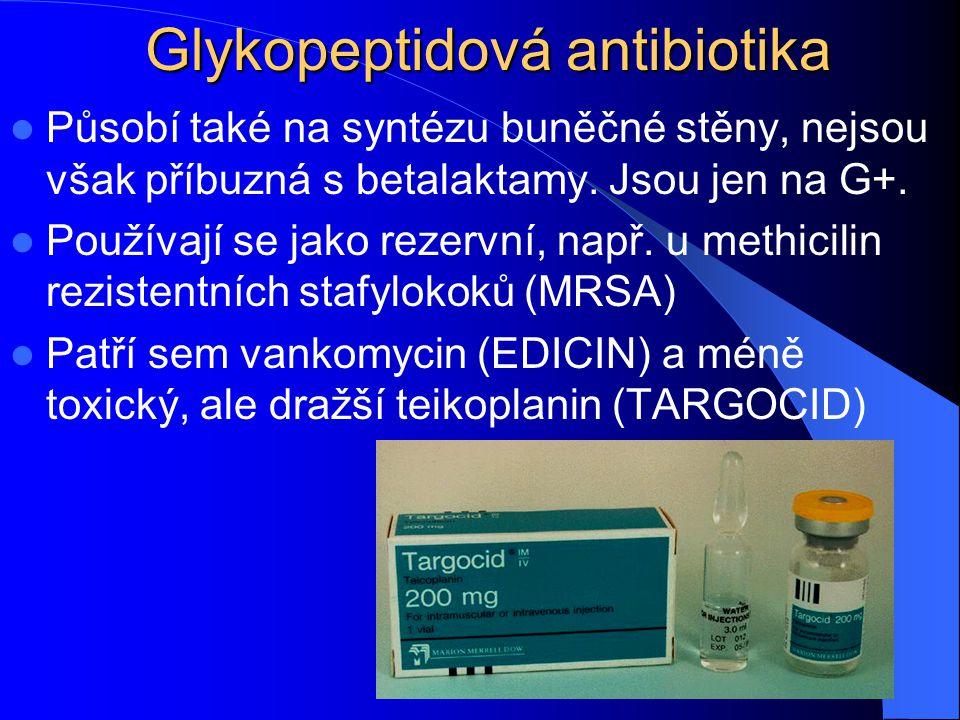 Glykopeptidová antibiotika