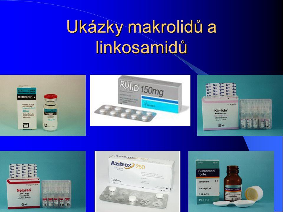 Ukázky makrolidů a linkosamidů