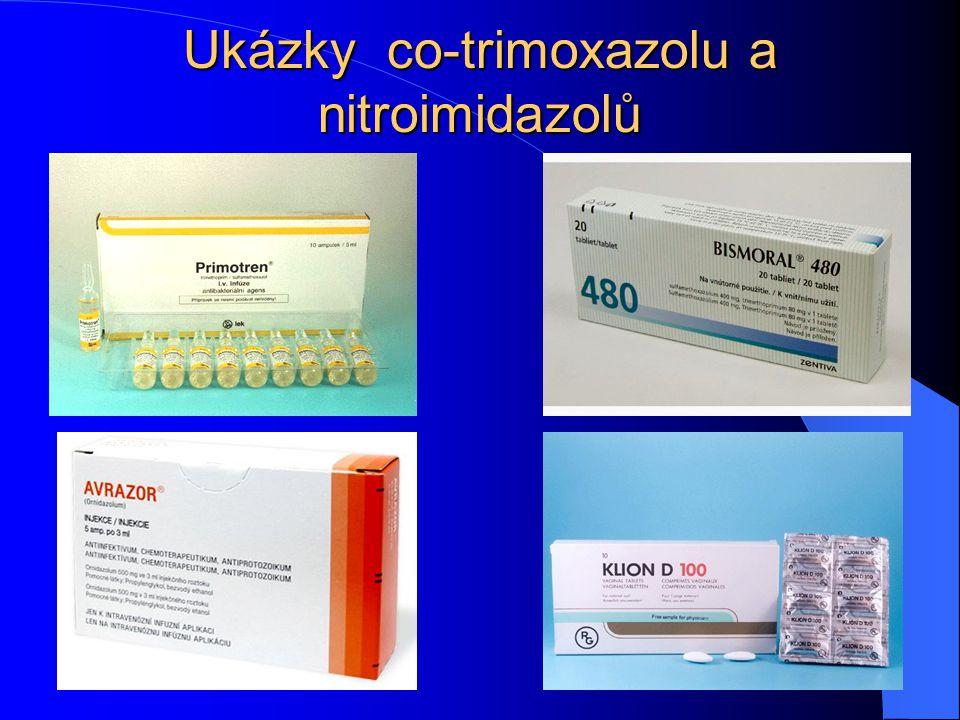 Ukázky co-trimoxazolu a nitroimidazolů