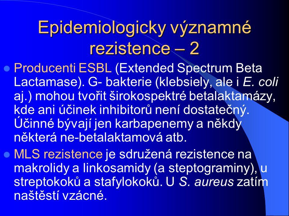 Epidemiologicky významné rezistence – 2
