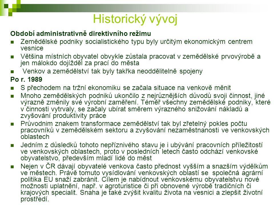 Historický vývoj Období administrativně direktivního režimu