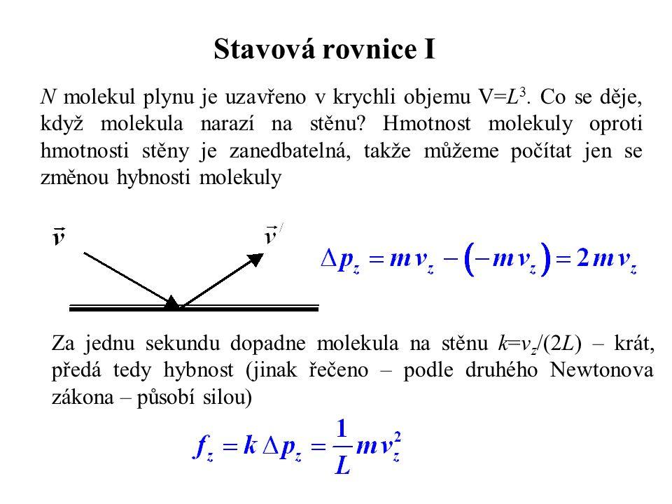 Stavová rovnice I