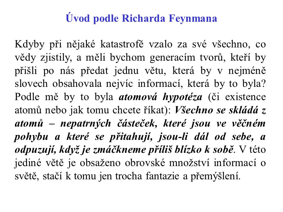 Úvod podle Richarda Feynmana