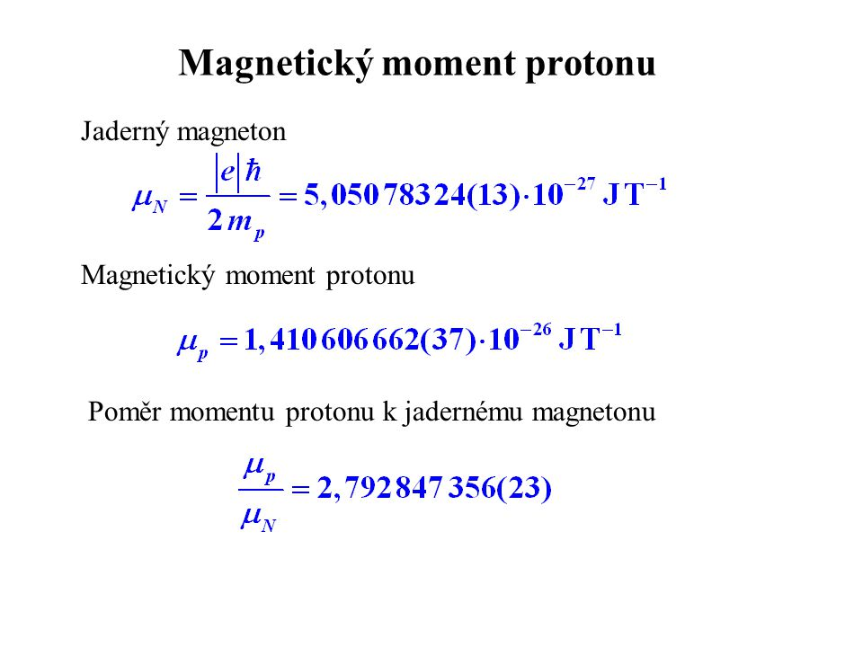 Magnetický moment protonu