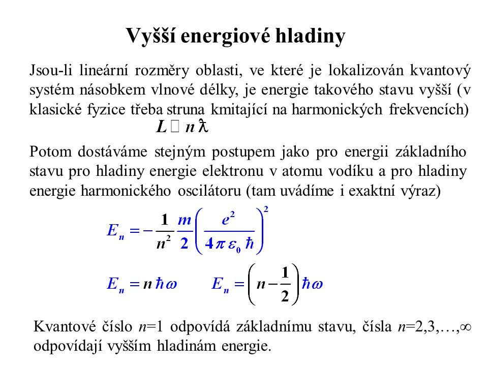 Vyšší energiové hladiny
