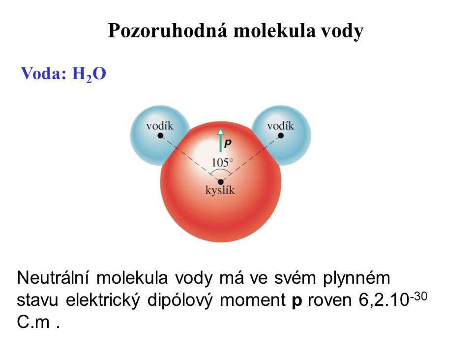 Pozoruhodná molekula vody