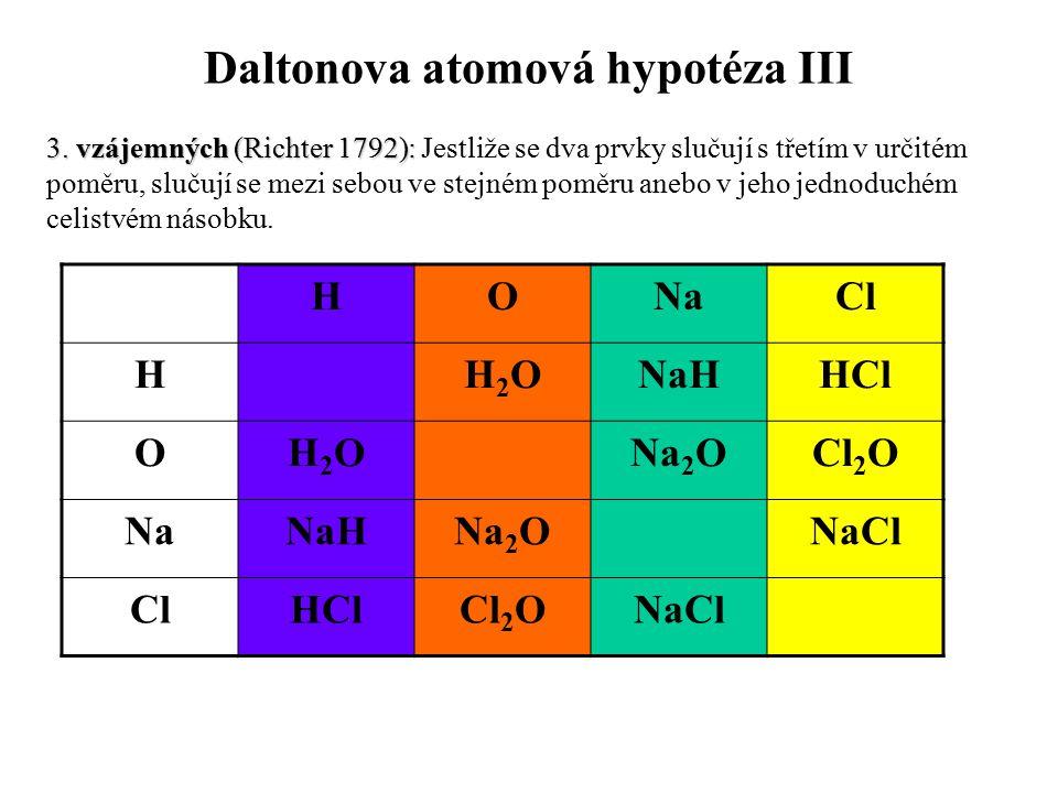 Daltonova atomová hypotéza III
