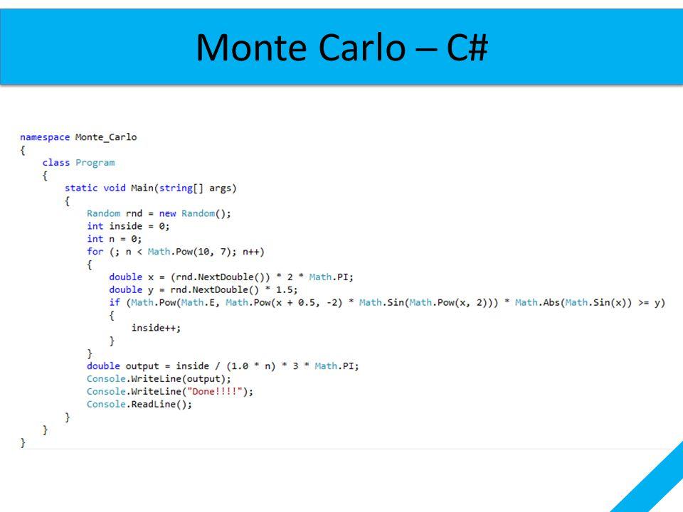 Monte Carlo ─ C#