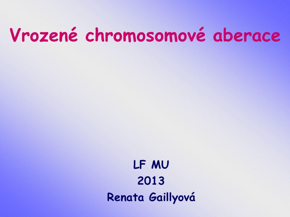 Vrozené chromosomové aberace