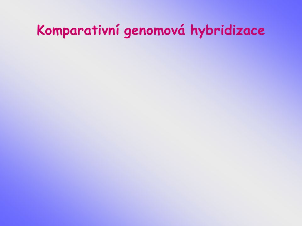Komparativní genomová hybridizace