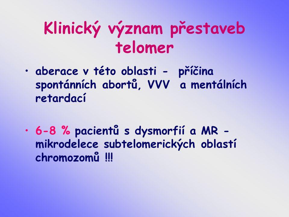 Klinický význam přestaveb telomer