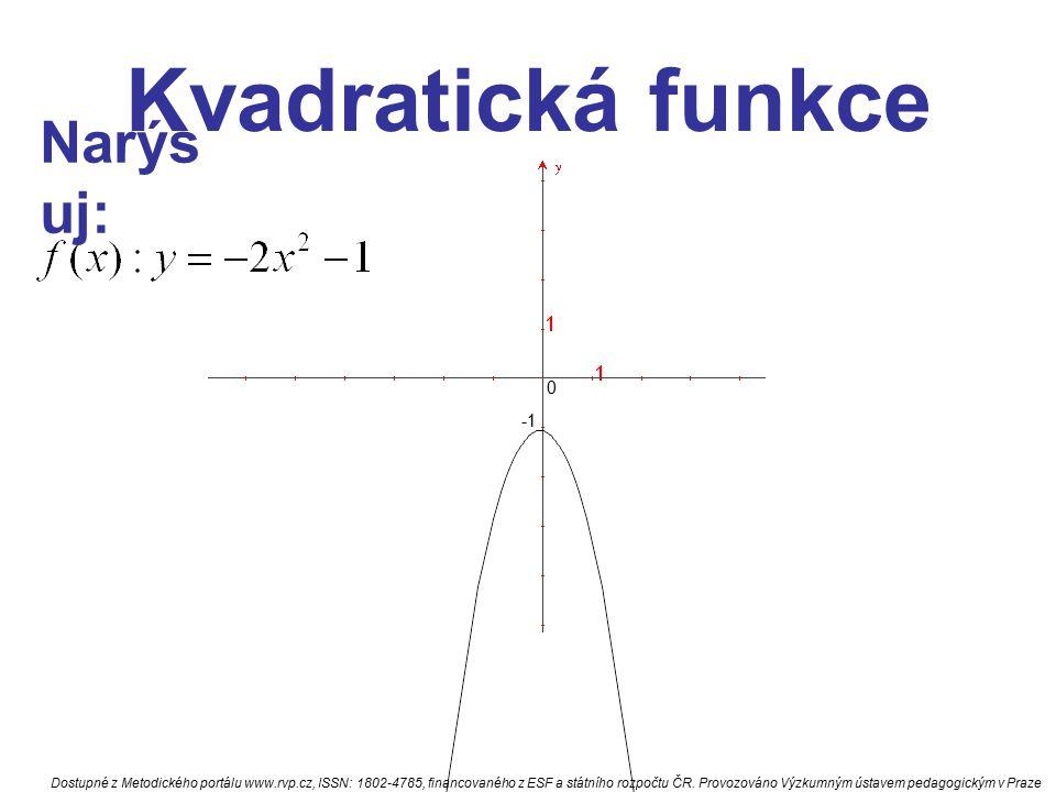 Kvadratická funkce Narýsuj: -1