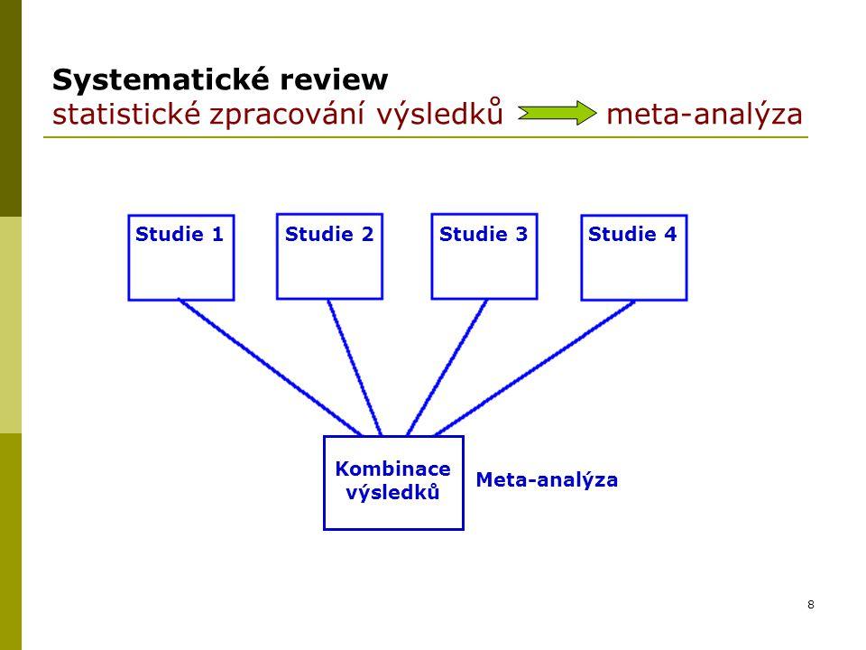 Systematické review statistické zpracování výsledků meta-analýza