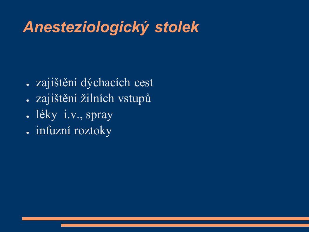 Anesteziologický stolek