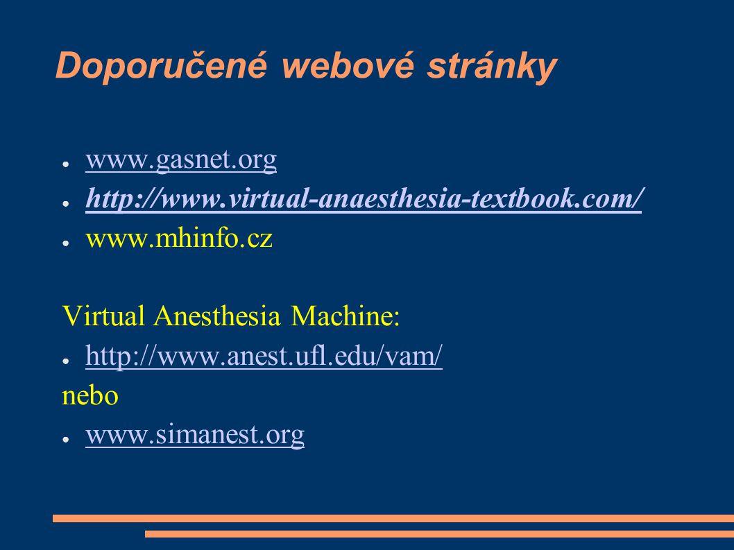Doporučené webové stránky