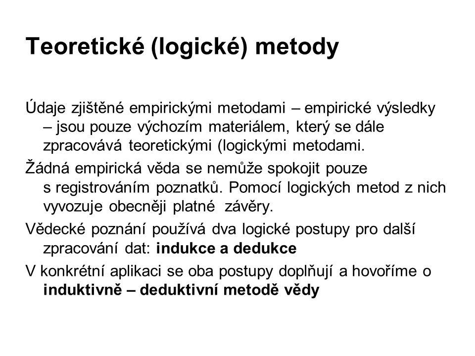 Teoretické (logické) metody