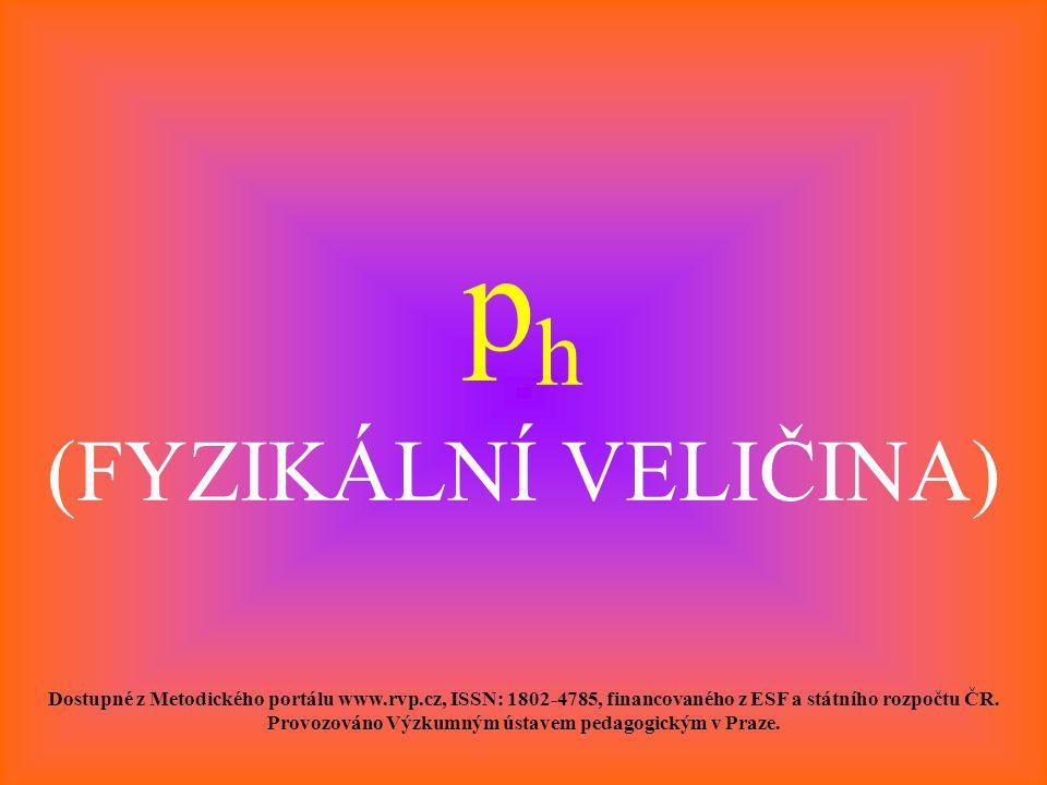 ph (FYZIKÁLNÍ VELIČINA)