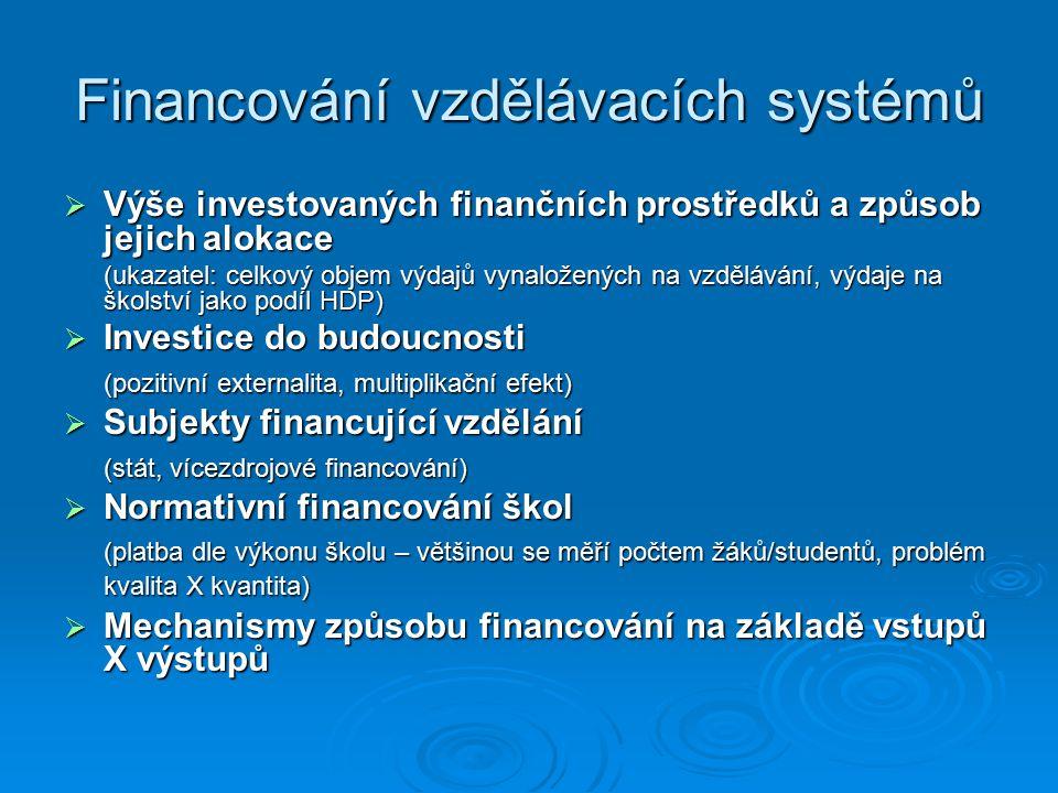 Financování vzdělávacích systémů